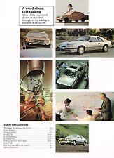1984 Ford Brochure:MUSTANG,THUNDERBIRD,LTD,EXP,ESCORT,SVO,Crown Victoria,TEMPO,