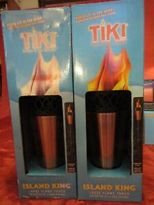 Tiki Island King Lrg. Flame Torch Twist Pour Technology 2-Set Stays Lite in Wind