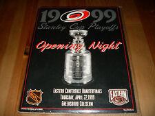 Carolina Hurricanes Stanley Cup Program, 1999, 1st ever Canes playoff game, rare