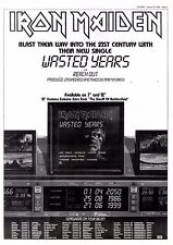 "30/8/86pg5 Single Advert 15x10"" Iron Maiden, Wasted Years"
