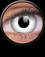 WHITE WITCH paire de lentilles couleur blanche lens contact white halloween NEUF
