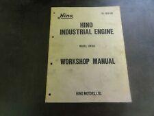 Hino Model EM100 Industrial Engine Workshop Manual
