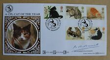 CATS 1995 BENHAM FDC CATS PROTECTION LEAGUE H/S SIGNED FCA CHAIRMAN G B BARRETT