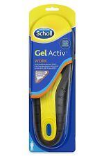 Scholl Gel Active Work Insoles for Men All Day Comfort Impact Cushioning Heel Kn