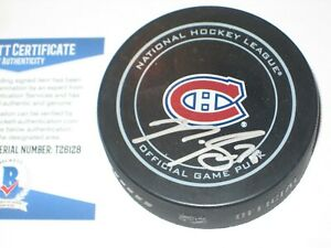 P.K. SUBBAN Signed Montreal CANADIENS Official GAME Puck + Beckett COA