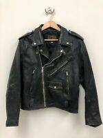Vintage Open Road Collection Leather Motorcycle Riding Bike Jacket - Size 40