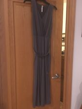 Pre-owned NY Collection Gray Sleeveless Jumpsuit- Size PS