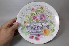 Davis Carroll Collectible Plate Zinnias in a Sugar Bowl Hutschenreuthe Germany