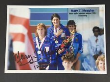 Mary Meagher 3 x Olympic Champion 1984 Swimming Signed Photo 10x15 Rarity
