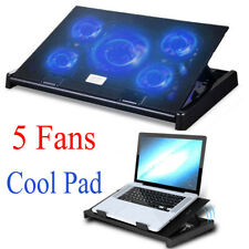 15.6 inch Laptop Cooling Cooler Fan Pad LED Adjustable Holder USB External Mat