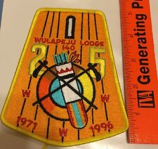 1996 25th ANN Wulapeju Lodge 140   With Button Tab Uncut 5.5 Inches Tall