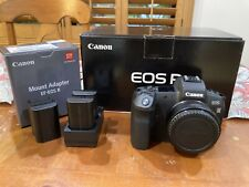 Canon EOS R Full Frame Mirrorless Body With EF Adapter + 5 Batteries