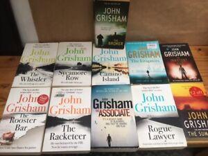 JOHN GRISHAM NOVELS PAPER BACK JOB LOT / COLLECTION x 11 CRIME THRILLER