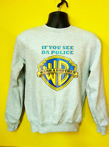 If You See Da Police, Warn A Brother Hip Hop Music Sweatshirt Jumper S-3XL Sizes