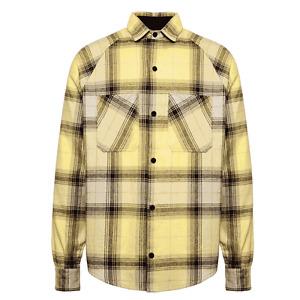 NEW Represent Raglan Sleeve Yellow Flannel Shirt - M