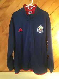 Adidas Club Deportivo Chivas USA MLS   Soccer fleece lined jacket Sz 2XL ~ NEW