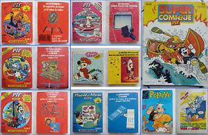 Lot de 8 BD PIF POCHE - Léo - PLACID et MUZO - POPEYE - 1977 à 1986