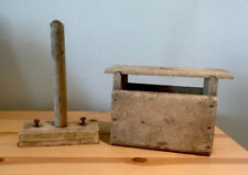 Antique Shaker Made Handmade Wooden Soap Form & Plunger Primitive Rustic