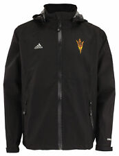 Adidas NCAA Men's Arizona State Sun Devils Gore-Tex Full Zip Rain Jacket, Black