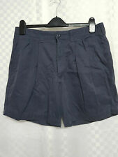 Mens M&S Chino Shorts Size W34 Blue Cotton Zip Pockets Summer Holiday