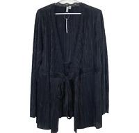 BNWT ASOS Maternity Womens Black Long Sleeve Tie Lightweight Jacket Plus Size 18