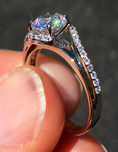 1 ct pave swirl ring Top Russian Quality CZ Simulated Mossanite Imitation S8