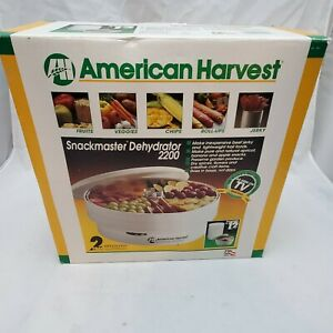 AMERICAN HARVEST Snackmaster 2200 FOOD DEHYDRATOR Model FD-30