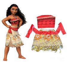 NEW SIZE 2-8 KIDS COSTUME DISNEY MOANA MAUI GIRLS CHILDREN PARTY BIRTHDAY GIFT