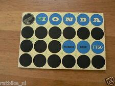 HONDA 50 TT50 TYPE 1 INSTRUCTIEBOEK DUTCH LANGUAGE  COMBI CS90 AND C320S