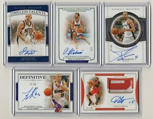 LOT5 2019-20 NATIONAL TREASURES AUTO TONY PARKER JASON KIDD PEJA /5 BIBBY CARTER