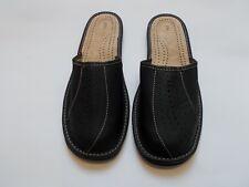Hausschuhe für Herren, Pantoffel aus Leder, Größen 41 bis 46