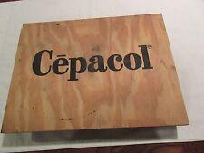 "Pharmacy ,CEPACOL ,Sign /Skateboard ,16"" X 12"" X 1/2"" ,4 Wheels , Vintage , Rare"