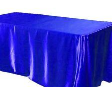 """60x102"""" inch Rectanglular Satin Tablecloth Wedding SEAMLESS Catering"""