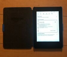 Amazon Kindle Paperwhite (7th Gen) 4GB, Wi-Fi, 6 inch With Blue Case Bundle