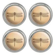 Dragonfly Vintage Insect Metal Craft Sewing Novelty Buttons - Set of 4