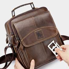 "100% Genuine Leather Men's Sling Shoulder Messenger Bags 11"" Handbags Cross Body"