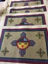 "El Paso Saddle Blanket South Western Native Placemats 22"" x 13"" Set of 4  CLEAN!"