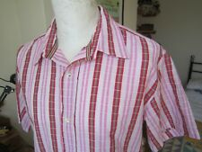 MEN'S PAUL SMITH JEANS CHECK SHIRT  L-XL  signature stripe trim summer top t