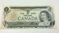 1973 Canada Replacement One 1 Dollar EAX Prefix Circulated Banknote C011
