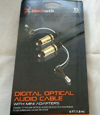 Blackweb 6ft Digital Optical Audio Cable with Mini Adapters