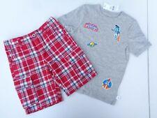 New 2 Boys Clothes Gap T-shirt Crazy 8 shorts Plaid Xs 4T 5T adjustable pants Te