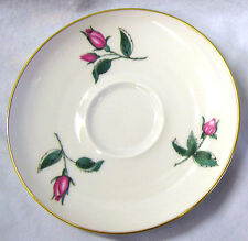 Vtg 1950's Cup Saucer Plate Easterling Bavarian China RADIANCE White Pink Roses