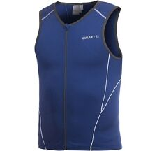Craft Mens Active Tri Jersey 194127 S Blue Triathlon Cycling Running