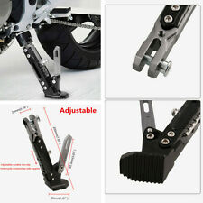 1x Motorcycle Adjustable Side Tripod Holder Foot Kick Stand Support Fall Protect