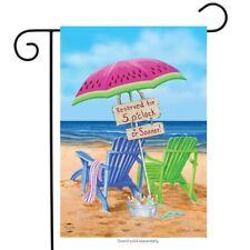 """Beach Bum Summer Garden Flag Beach Chairs Umbrella 12.5"""" x 18"""" Briarwood Lane"""