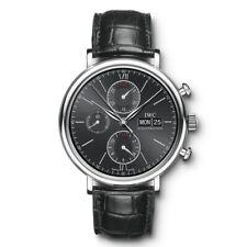 NEW IWC Portofino Chronograph Black Dial Steel 42mm Automatic Watch IW391008