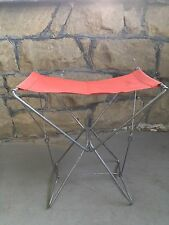 Vintage Champion Camp Stool Metal Folding Chair With Cloth Seat Made in France