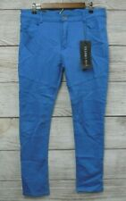 Franky Max Jeans Mens Size 36X32 Blue Colored Skinny Stretch Jeans New