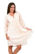 Knee-Length Linen Tunic Dresses for Women