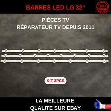 KIT 3PCS BARRES LED TV LG LG32LN5700 32LN540B 32LN575 32LN578 32LN570...